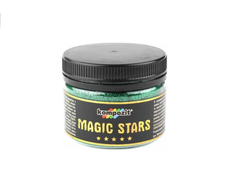 Пигмент-металлик полиэфирный KOMPOZIT MAGIC STARS декоративный изумруд 60гр