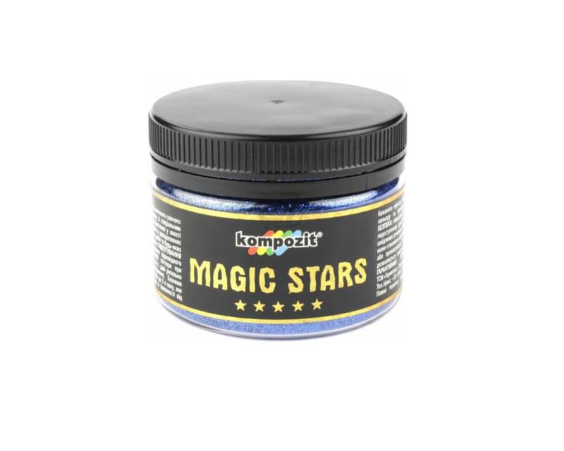 Глиттер полиэфирный KOMPOZIT MAGIC STARS декоративный голубое сияние 60гр