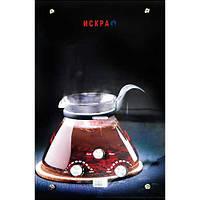 """Газовый проточный водонагреватель ИСКРА JSD 20 LCD MT-1 принт """"кофе"""" (стекло) - 10 л\мин"""