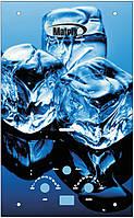 """Газовый проточный водонагреватель Matrix принт """"лед"""" (стекло) - 10 л\мин"""