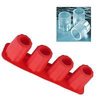 Силиконовая форма для льда (ледяная рюмка-стопка) - Red