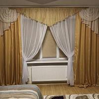 Красивый ламбрекен со шторами в гостиную