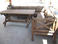 Стіл Еміне 2,8 м, дерев'яні меблі для дачі Еміне, фото 1