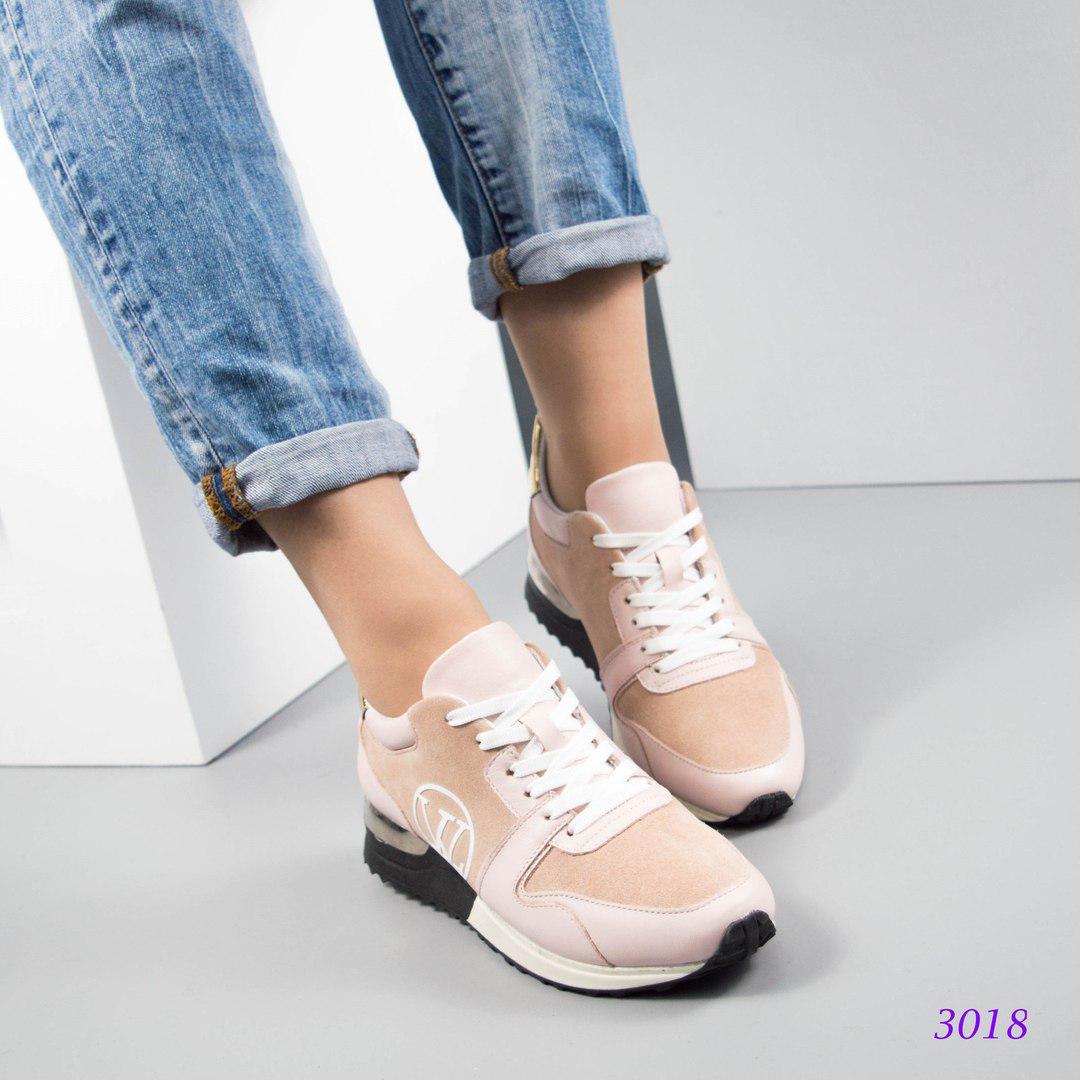 099b8c326a90 Женские кроссовки копия Луи Витон,большемерят.Натуральная кожа/замша ...