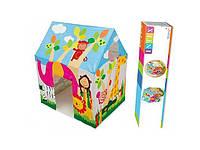 Детский игровой домик палатка джунгли Intex 45642: размер 95х107х75 см (от 3 до 6 лет)