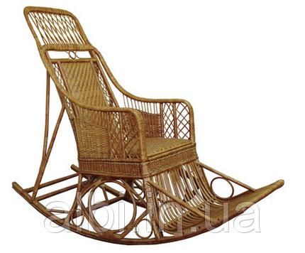 Кресло-качалка плетенное из лозы Черниговчанка