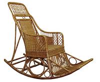 Кресло-качалка плетенное из лозы Черниговчанка, фото 1