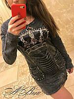 Женское джинсовое платье Турция