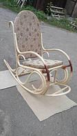 """Кресло-качалка из ротанга """"Олимп"""" с подножкой, фото 1"""