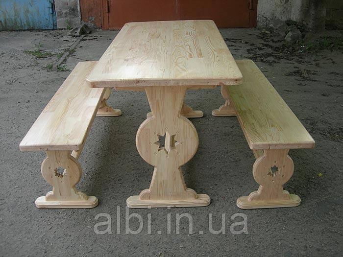 Мебель садовая из натурального дерева Аленка КОМПЛЕКТ