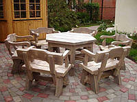 Мебель садовая из натурального дерева Богатырь КОМПЛЕКТ