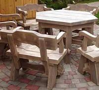 Стол 1,2м из натурального дерева из комплекта Богатырь , фото 1
