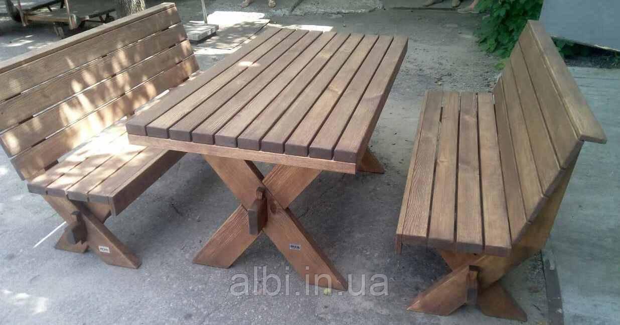 Мебель садовая из натурального дерева Дельта КОМПЛЕКТ 3м