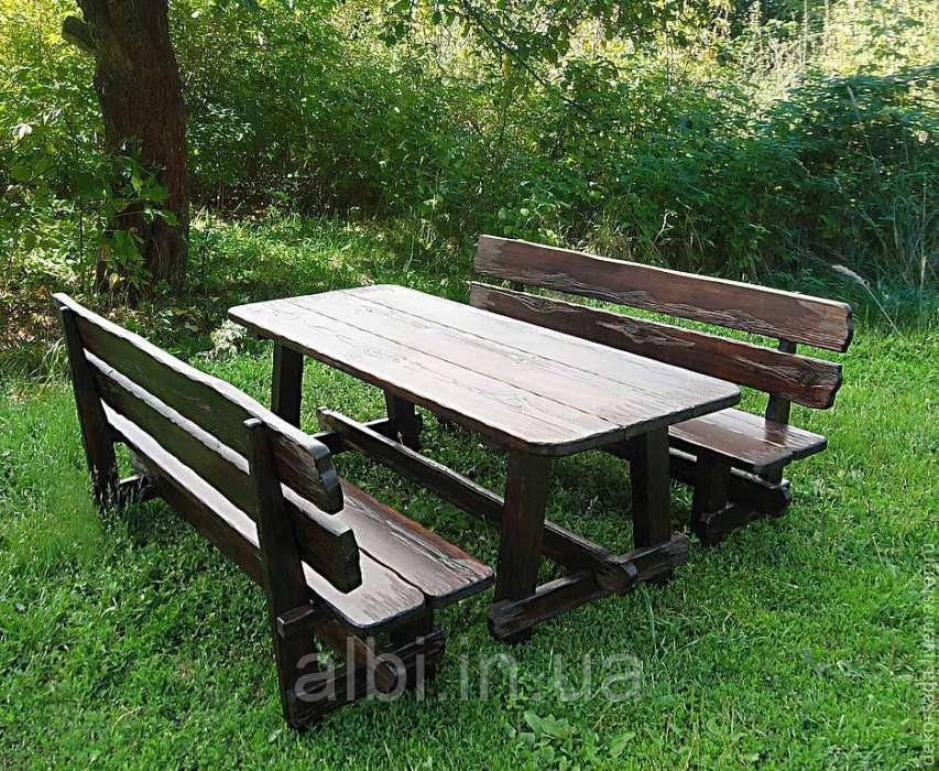 Мебель садовая из натурального дерева Лесник КОМПЛЕКТ