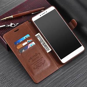 """Xiaomi Mi MAX 2 ригинальный кожаный чехол книжка кошелёк с карманами противоударный на телефон """"ASPENZ"""""""
