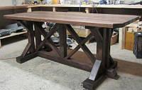 Стол 1,3м Брут из натурального дерева , фото 1