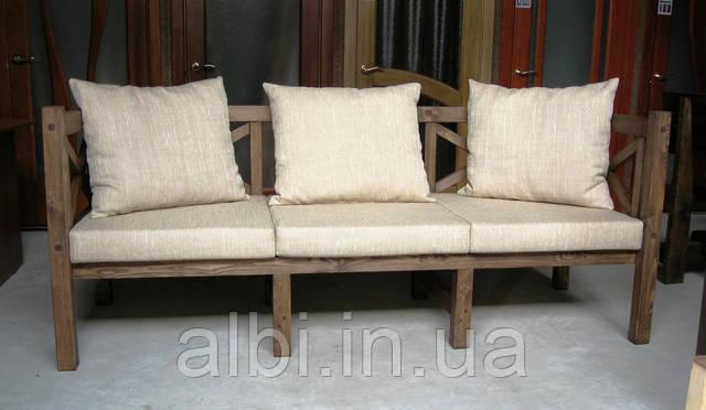 Скамья садовая, деревянная мебель для дачи Эмине 2200мм