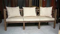 Скамья садовая, деревянная мебель для дачи Эмине 2200мм, фото 1