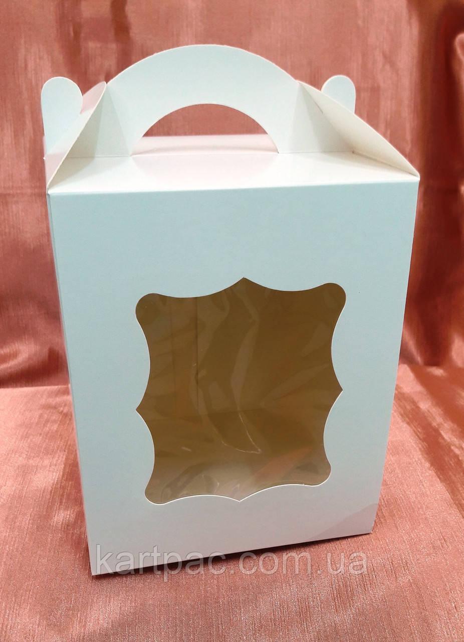 Коробка для пасхи-кексов 170*170*210 белая мелованная
