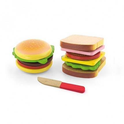 Гамбургер и сэндвич игровой набор Viga Toys (50810), фото 2