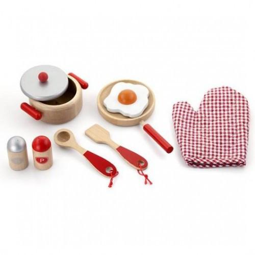 Маленький Повар игровой набор Viga Toys (50721) (красный)