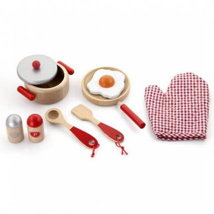Маленький Повар игровой набор Viga Toys (50721) (красный), фото 2