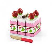 Игровой набор Viga Toys Клубничный торт (51324)