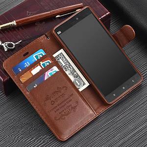 """Xiaomi Mi 4C оригинальный кожаный чехол книжка кошелёк с карманами противоударный на телефон """"ASPENZ"""""""