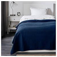 ИНДИРА Покрывало, темно-синий, 150x250 см 20191763 IKEA, ИКЕА, INDIRA