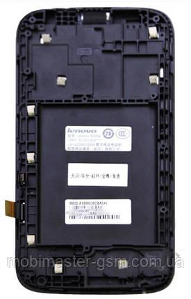 LCD модуль в рамке Lenovo A560 черный, фото 2