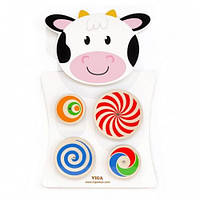 Игрушка настенная Viga Toys Корова с кругами (50677)