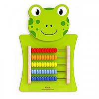 Игрушка настенная Viga Toys Лягушка со счетами (50679)