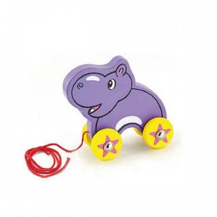 Бегемот деревянная игрушка-каталка Viga Toys (50092), фото 2