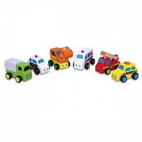 Мини-машинки 6 шт. набор Viga Toys (59621)