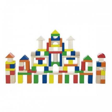 Набор строительных блоков Viga Toys 100 шт. (2,5см) (50334), фото 2