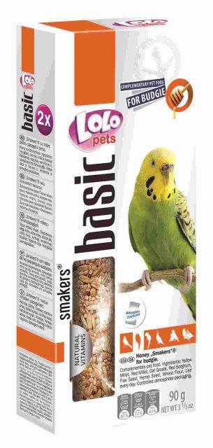 Smakers® с медом для волнистых попугаев 90гр Lolopets