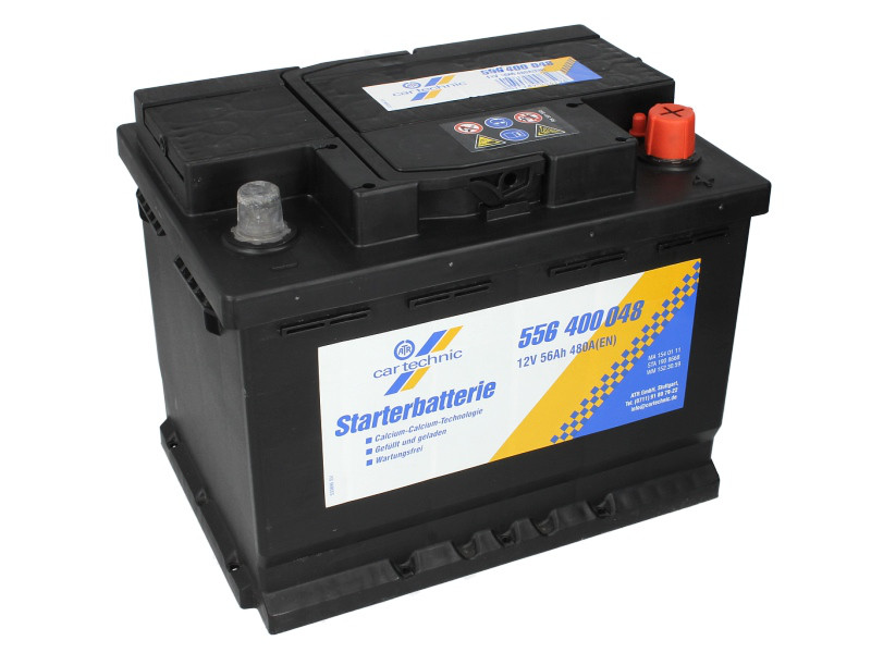 Аккумулятор Cartechnic 56Ah/480A ULTRA POWER (R+) 242x175x190 B13