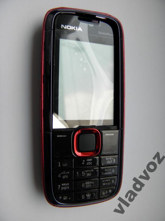 Корпус для Nokia 5130 красный с клавиатурой class AAA