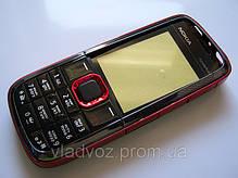 Корпус для Nokia 5130 красный с клавиатурой class AAA, фото 3