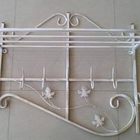 Кованая вешалка Профиль Бежевая 65 см, фото 1