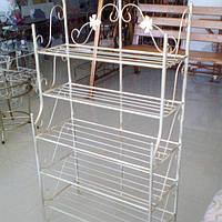 Этажерка высокая 65 см Бежевая, фото 1