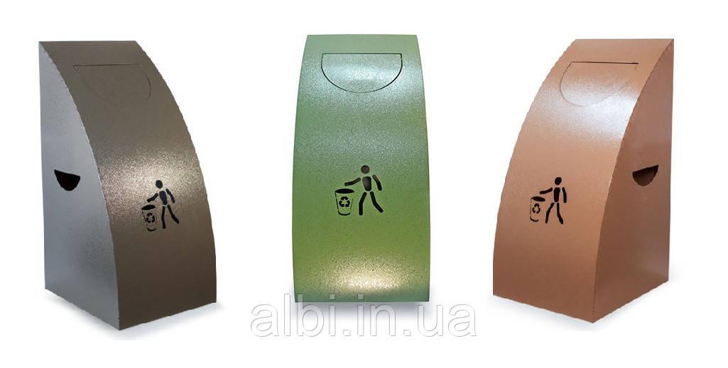 Урны металлические для раздельного сбора мусора из 3х ед.