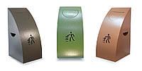 Урны металлические для раздельного сбора мусора из 3х ед., фото 1