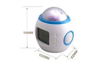 Часы будильник настольные с проектором звездного неба , фото 3