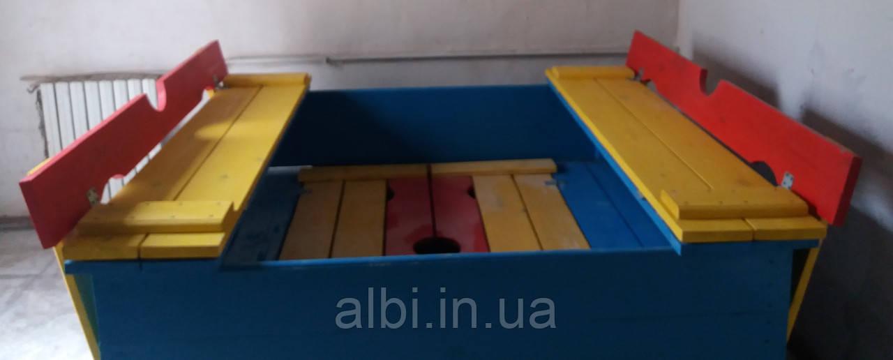 Песочница с крышкой (трансформер) 1,8х1,8