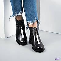 6e8118b3f Женские демисезонные ботинки,натуральная лаковая кожа.Внутри байка.
