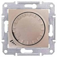 Диммер поворотно-нажимной индуктивный 40-1000 Вт Титан Sedna Schneider, SDN2200968