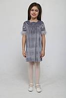 Брендовое велюровое платье для девочки (золото, сереберо)