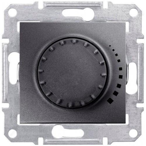 Диммер поворотно-нажимной индуктивный 40-1000 Вт Графит Sedna Schneider, SDN2200970