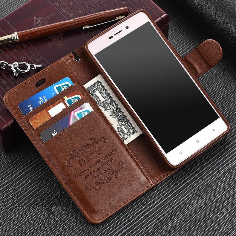 """Xiaomi Redmi 3 Pro оригинальный кожаный чехол книжка кошелёк с карманами противоударный на телефон """"ASPENZ"""""""